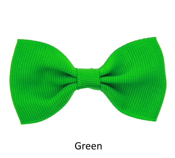 green baby girl hair clips mini bow