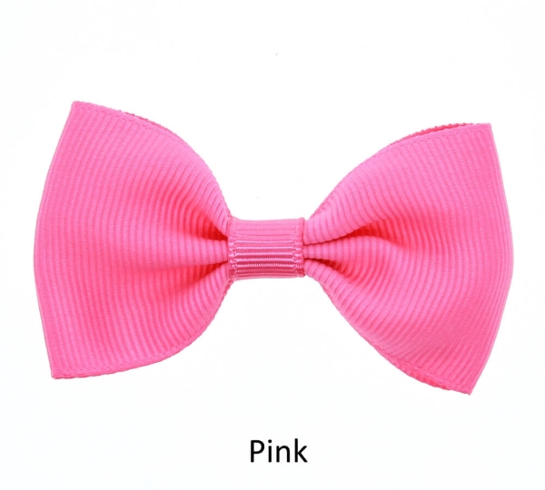 pink baby girl hair clips mini bow