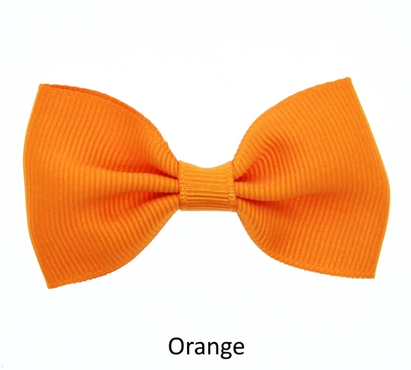 orange baby girl hair clips mini bow
