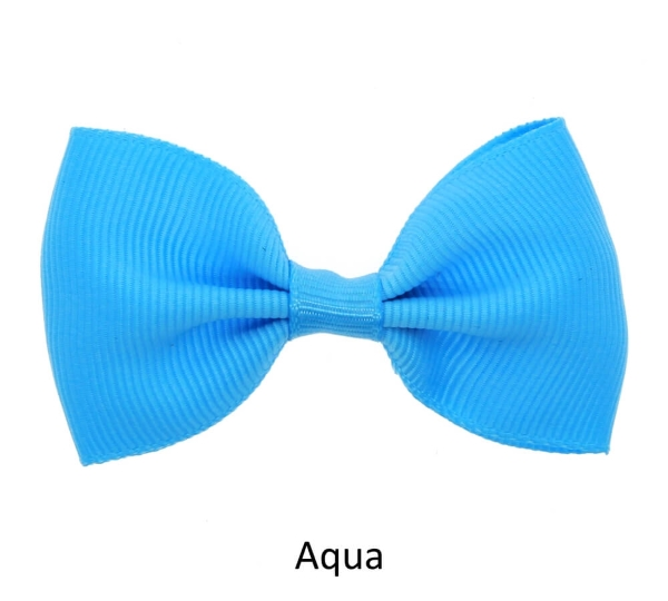 aqua baby girl hair clips mini bow
