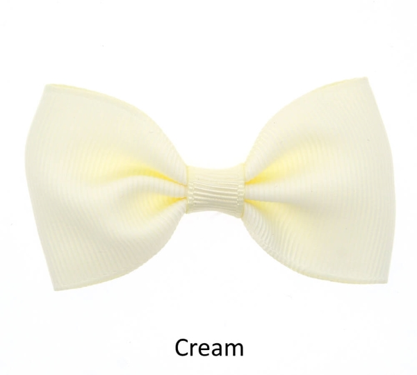 cream baby girl hair clips mini bow