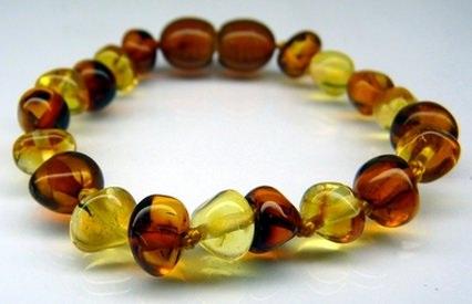 bi-color amber teething bracelets