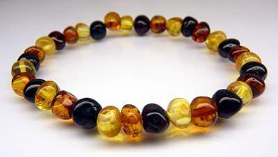 Adult Amber Bracelet - Multi Colour