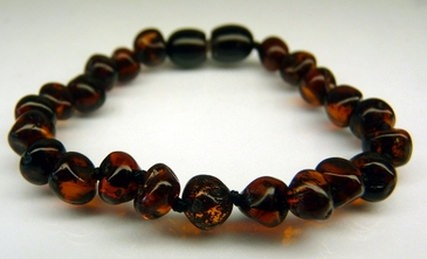 cherry amber teething bracelets