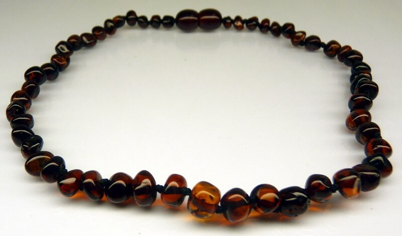 cherry amber teething necklace