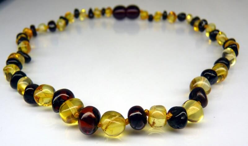 cherry yellow amber teething necklace