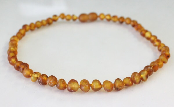 cognac raw amber teething necklace