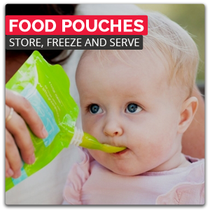 Food Pouches - Store, Freeze and Serve