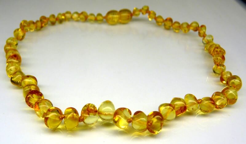 honey amber teething necklace