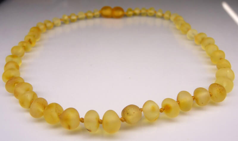 honey raw amber teething necklace