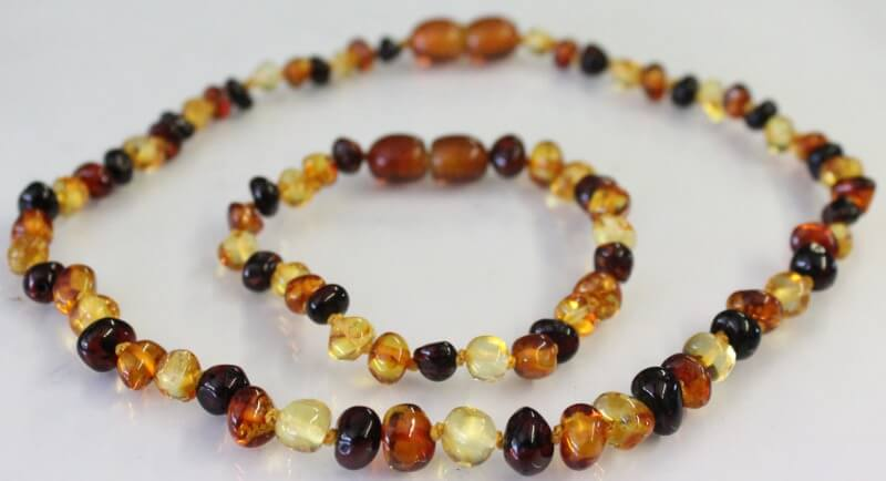 multicolor amber necklace for mum and baby