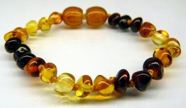 rainbow amber teething bracelets